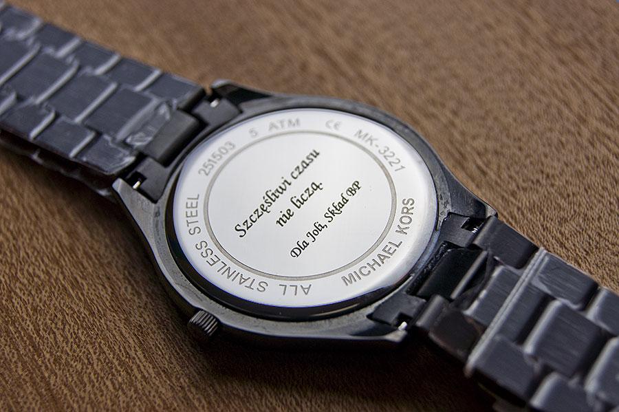 Grawerowanie zegarków - Laser Kraków