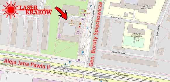 Zobacz Laser Kraków na mapie