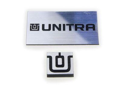 Tabliczki Unitra wykonane laserem